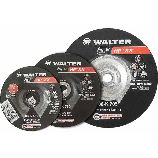 "Walter 08K450 4-1/2"" HP XX High Speed Grinding Wheel"