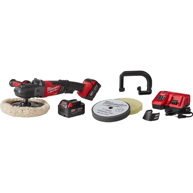 "Milwaukee 2738-22P M18 FUEL 7"" Variable Speed Polisher Kit with Pads"