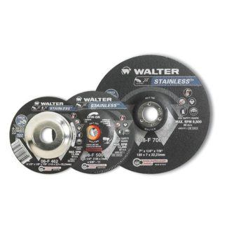 "Walter 08F500 5"" Stainless Spin-On Grinding Wheel"