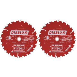 """Freud D0724PX 7-1/4"""" x 24T 2-Pack Demo Demon Framing & Ripping Blade 2-Pack"""
