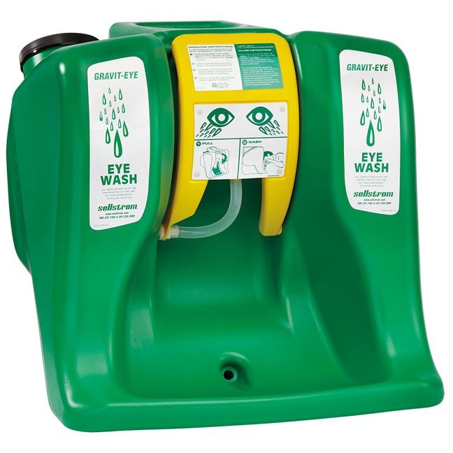 eyewash portable eye station gallon sellstrom gravit safety ansi cart wash stations emergency
