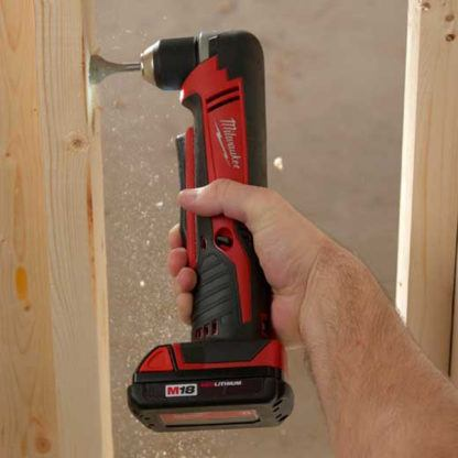 Milwaukee 2615-20 M18 Cordless Right Angle Drill In Use 1