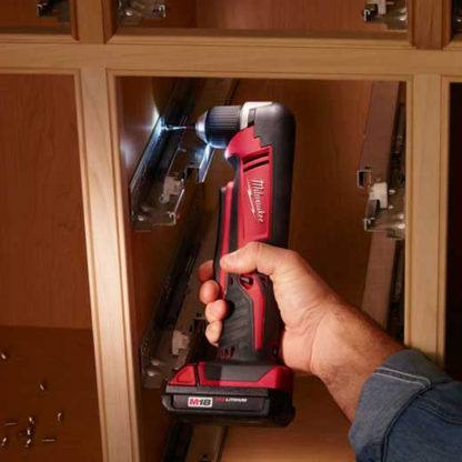 Milwaukee 2615-20 M18 Cordless Right Angle Drill In Use 2