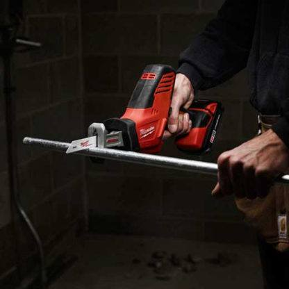 Milwaukee 2625-20 Hackzall M18 Cordless One-Handed Recip Saw In Use 1