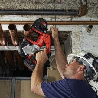 Milwaukee 2629-20 M18 Cordless Band Saw In Use 2