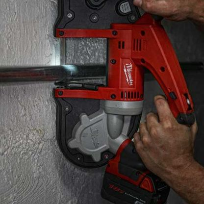 Milwaukee 2629-20 M18 Cordless Band Saw In Use 3