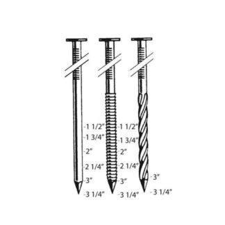 Bostitch N80CB-1 Nail Size Chart