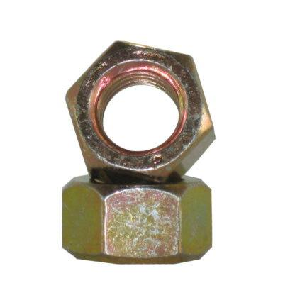 Hex Nuts Grade 8 Yellow Zinc