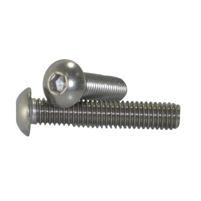 "1/4"" - 20 Button Head Socket Cap Screws Stainless Steel"