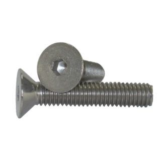 "1/4"" - 20 Flat Head Socket Cap Screw Stainless Steel"
