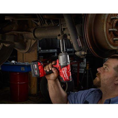Milwaukee 2763-22 M18 Fuel Impact Wrench Kit - Friction Ring In Use 3
