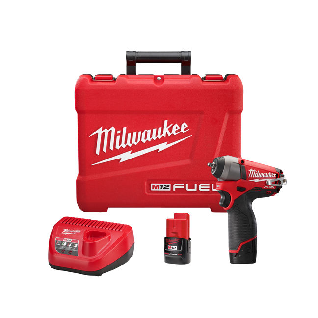 "Milwaukee 2452-22 M12 Fuel 1/4"" Impact Wrench Kit"