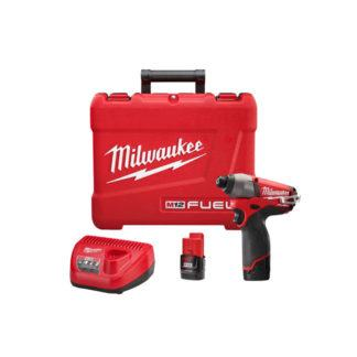 Milwaukee 2453-22 M12 Fuel Hex Impact Driver Kit