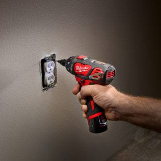Milwaukee 2401-20 M12 Cordless Screwdriver In Use
