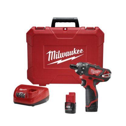 "Milwaukee 2406-22 M12 1/4"" Hex Screwdriver Kit"