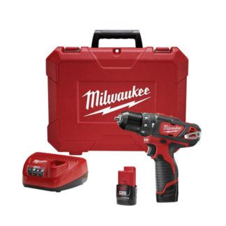 "Milwaukee 2408-22 M12 3/8"" Hammer Drill/Driver Kit"