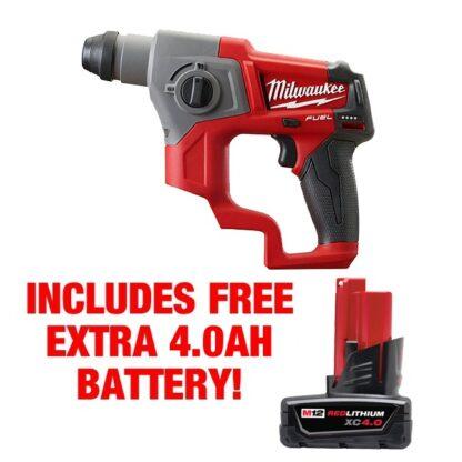 Milwaukee 2416-20 M12 Fuel 5/8″ SDS Plus Rotary Hammer