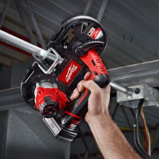 Milwaukee 2429-20 M12 Sub Compact Band Saw In Use