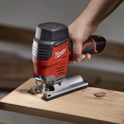 Milwaukee 2445-20 M12 Jig Saw In Use