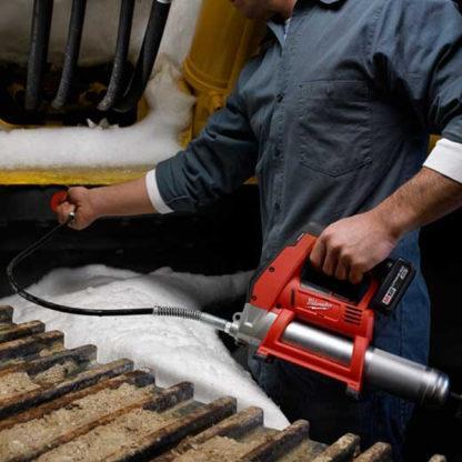 Milwaukee 2446-20 M12 Grease Gun In Use
