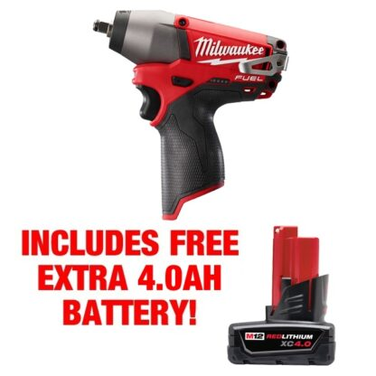 Milwaukee 2454-20 M12 Fuel 3/8″ Impact Wrench