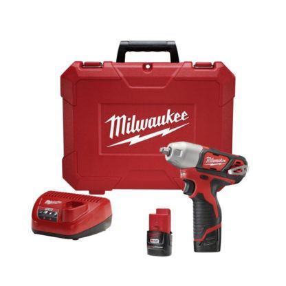 "Milwaukee 2463-22 M12 3/8"" Impact Wrench Kit"