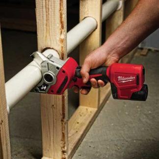 Milwaukee 2470-20 M12 PVC Shear In Use