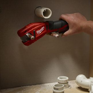 Milwaukee 2471-20 M12 Copper Tubing Cutter In Use