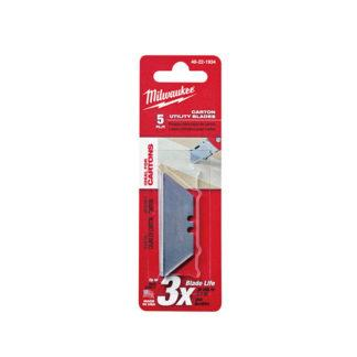 Milwaukee 48-22-1934 5 PC Carton Utility Knife Blades