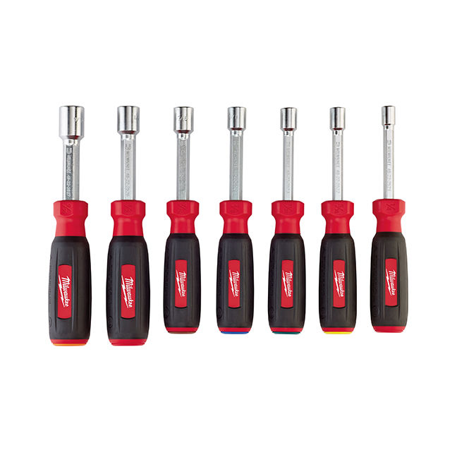 Milwaukee 48-22-2507 7PC Magnetic HollowCore SAE Nut Driver Set