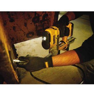DeWALT DCGG571M1 20V Grease Gun In Use 3