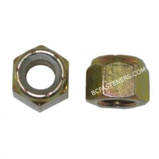 Nylon Lock Nuts Grade 8 Yellow Zinc