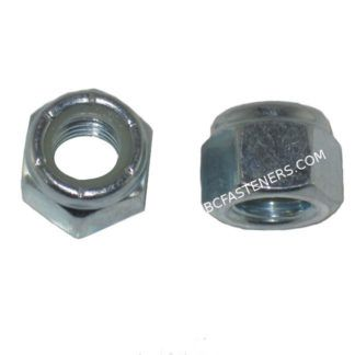 Nylon Lock Nuts Metric Zinc Plated