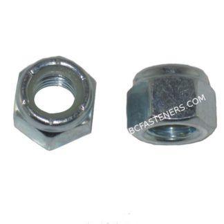 Nylon Lock Nuts Zinc Plated