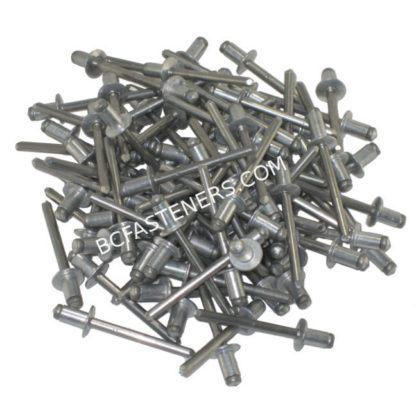 Open End Rivet Dome Head - Aluminum Body Steel Mandrel