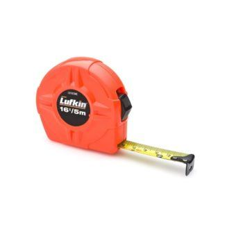 Lufkin L616CME 19mm x 5m Hi-Viz Orange Power Return Value Tape