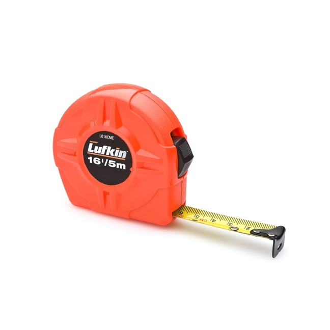 Lufkin L616CME 19mm x 5m Hi-Viz Orange Power Return Value Tape