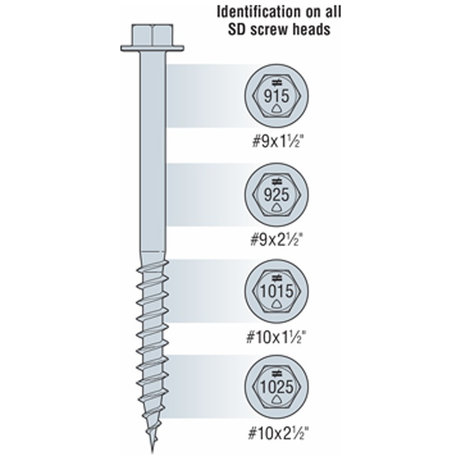 Simpson SD Structural-Connector Screw