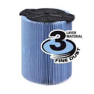 Ridgid VF5000 Fine Dust 3-Layer Pleated Paper Filter