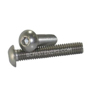 M8 - 1.25 Button Head Socket Cap Screw Stainless Steel