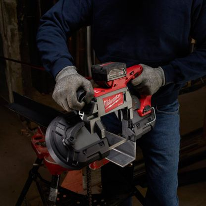 Milwaukee 2729-20 M18 FUEL Deep Cut Band Saw In Use 1