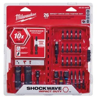 Milwaukee 48-32-4408 Shockwave Drive and Fasten Set - 26pc