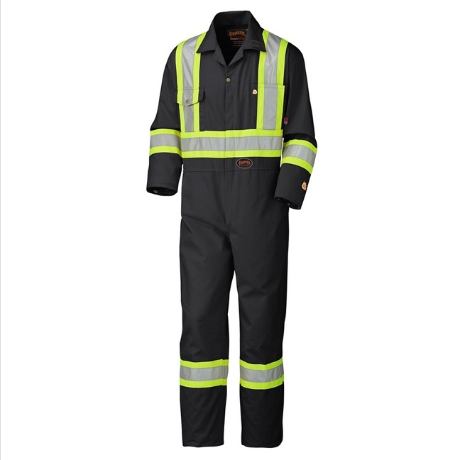 Pioneer 5555BK Flame Resistant Cotton Safety Coverall