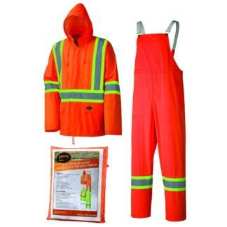 Pioneer 5598 Hi-Viz Orange Lightweight Rainsuit