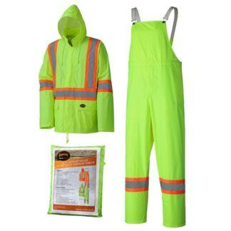 Pioneer 5599 Hi-Viz Yellow Lightweight Rainsuit