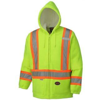 Pioneer 6921 Hi-Viz Yellow Polyester Fleece Boa Lined Hoodie
