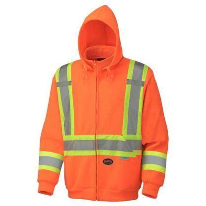 Pioneer 6924 Hi-Viz Orange Polyester Fleece Hoodie