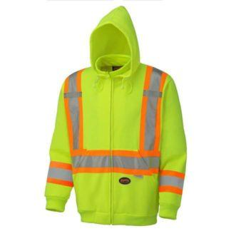Pioneer 6925 Hi-Viz Yellow Polyester Fleece Hoodie