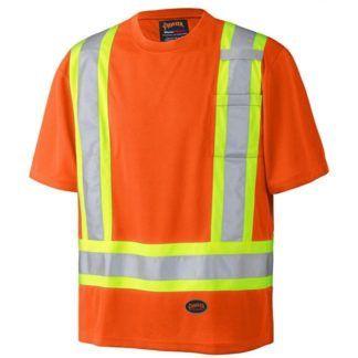 Pioneer 6990 Birdseye Hi-Viz Orange Safety T-Shirt