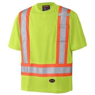 Pioneer 6991 Birdseye Hi-Viz Yellow Safety T-Shirt